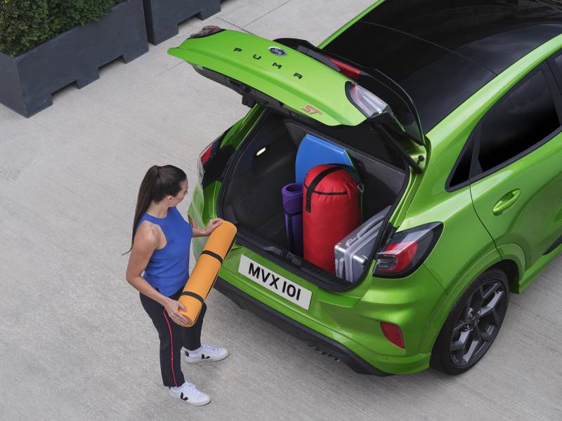 New Ford Puma ST in Mean Green at Cuff Miller Megabox boot
